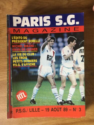 1989//1990 Programmes de match PSG Paris Saint Germain Paris SG Magazine