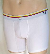 Mundo Unico men's tri color cotton spandex boxer brief white or blue small 26-28