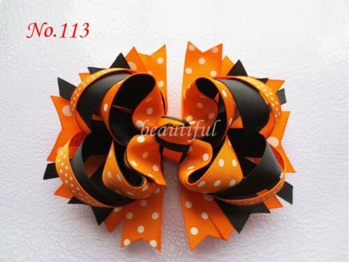 14 BLESSING Good Girl Custom Boutique 5.5 Inch Blooming Hair Bow Clip 158 No.