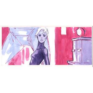 """A* 41 page 131 original watercolor comic art """"Shut In"""" Ben Chamberlain"""