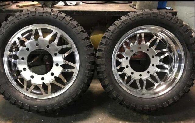 New Dually Wheels Classic Alcoa Style 22 And 24 10 Lug Ebay