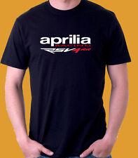 Aprilia Racing RSV4 RR RF Racing  Black  t shirt S M L XL 2XL 3XL  Honda yamaha