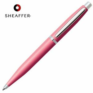 SHEAFFER VFM BLACK Refill Ballpoint Ball Pen Coral Pink & Nickel Barrel GIFT BOX 74040114256