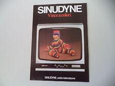 advertising Pubblicità 1976 RADIO TELEVISORE SINUDYNE