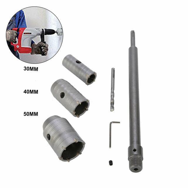3pcs 30//40//50mm SDS Plus Shank Concrete Cement Stone Wall Hole Saw Drill Bit USA