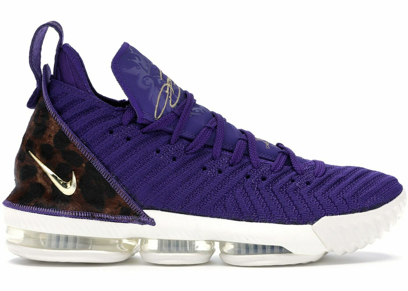 5b6b3ac70d49 Nike Nike Nike Lebron 16 XVI King Court Purple Los Angeles Lakers Size 14.  AO2588