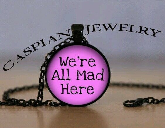 We're all mad here Alice in Wonderland Fashion Pendant Necklace Top quality