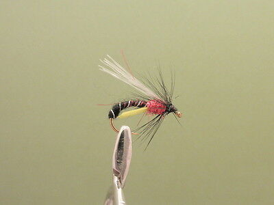 Emerger Trout Flies Fishing Flies Choice of Sizes 6 x Red Holo Deershuckers