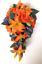 17-piece-Wedding-Bouquet-Bridal-Silk-Flowers-Bouquets-ORANGE-LILY-PURPLE-PLUM thumbnail 3