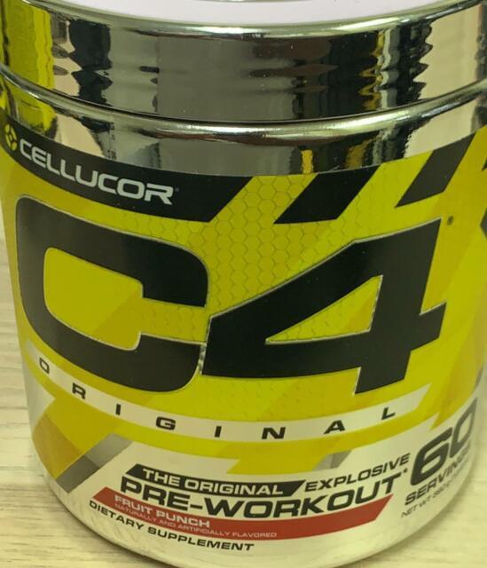 Cellucor C4 Original Pre Workout Powder Fruit Punch 60 Servings 01/2023 (k3)