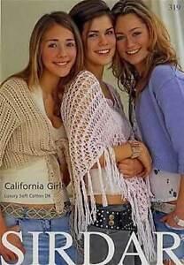 Sirdar-319-California-Girls-Luxury-Soft-Cotton-DK-Knitting-Pattern-Booklet