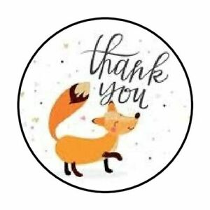 48-THANK-YOU-FOX-ENVELOPE-SEALS-LABELS-STICKERS-1-2-034-ROUND