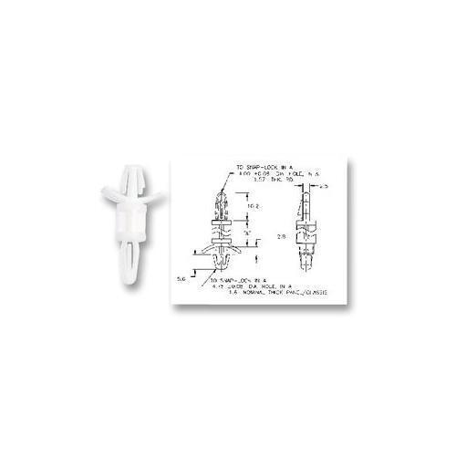 50 Stück Kunststoffschrauben Linsenkopf DIN 7985 Polyamid PA 6.6 natur M2X6