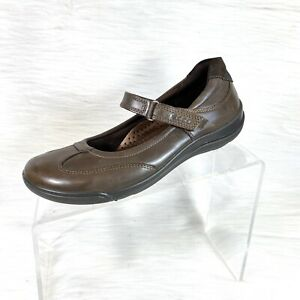 Ecco-Women-s-Mary-Jane-Shoes-Brown-Leather-Walking-Comfort-Size-36-US-5-5-5