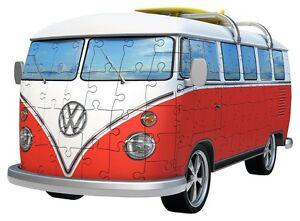 PUZZLE-3D-RAVENSBURGER-12516-Minibus-VAN-VOLKSWAGEN-T1-Intimidateur