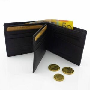 Genuine-Cowhide-Leather-Men-RFID-Wallet-ID-Protection-Bifold-Design-Anti-Theft