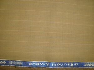 4-4-yd-Holland-Sherry-WOOL-Snowy-Mountain-Super-120s-FABRIC-7-5-oz-Suit-160-034-BTP