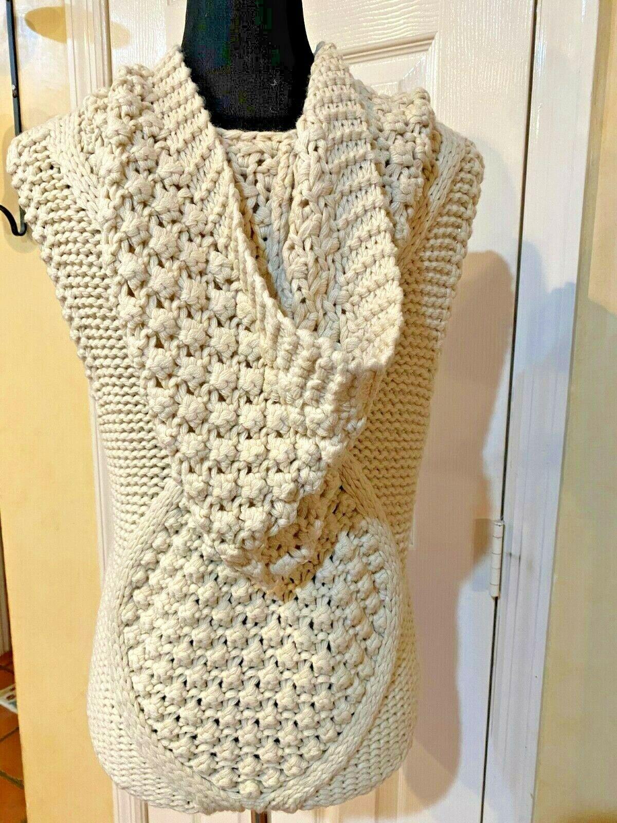 Anthropologie Pelage Crochet Sweater Vest Medium … - image 5
