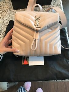 Saint Laurent Ysl Backpack Loulou In Blush Ebay