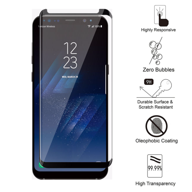 Tempered Glass Screen Protector for Samsung Galaxy S8 Plus