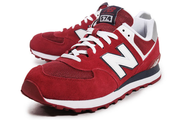 New Balance 574 Classic Traditionnels ML574CPB Red White Black US size 9.5