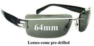 SFX Replacement Sunglass Lenses fits Versace MOD 4103 64mm Wide