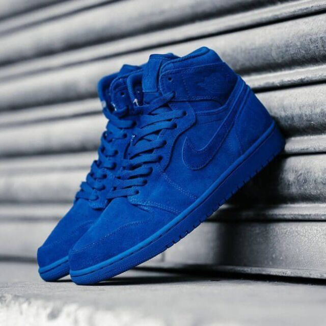 the best attitude cb5d9 1ab83 Frequently bought together. NIKE AIR JORDAN 1 RETRO HIGH Triple BLUE SUEDE  ...