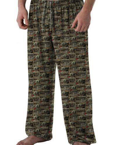Baby Yoda Star Wars Mandalorian Pajama Pants Mens Size Small Medium Large XL XXL