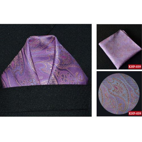 Men Classic Paisley Flower Handkerchief Wedding Party Pocket Square Hanky