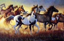 "Cynthie Fisher ""Wild Fire"" Horse Print 31"" x 15"""