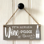 Personalised Wine O/'Clock Plaque New Home House Warming Drinks Plaque Drinks