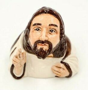 JESUS-Ceramic-Face-Pot-by-Kevin-Francis-signed-Christian-Savior