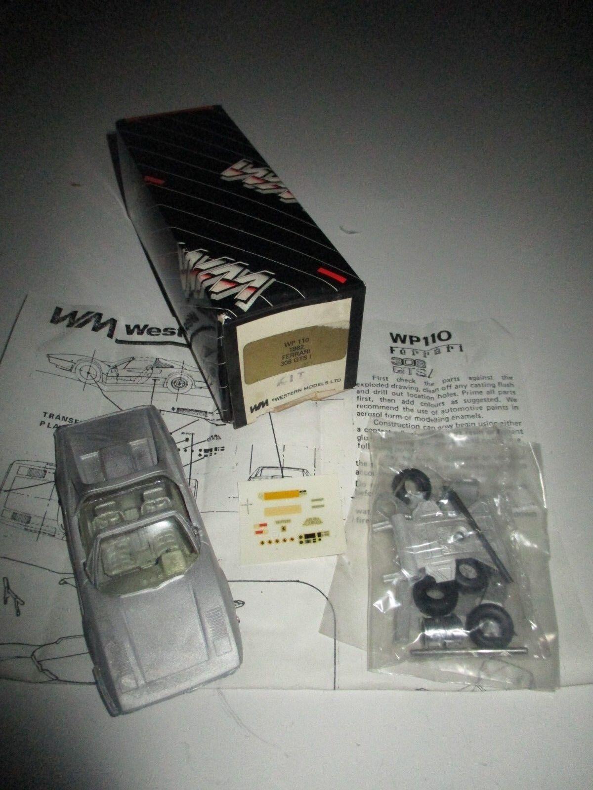 FERRARI 308 GTS I 1982 WP110 KIT MONTAGGIO WM SCALA 1:43