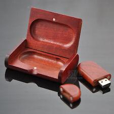 New 16GB Creative Wooden box 16G USB 2.0 Memory Stick Flash Drive Pen Drive