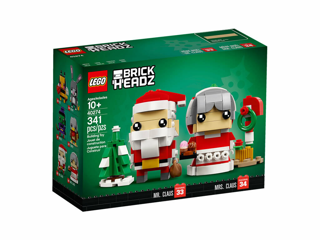 LEGO BRICKHEADZ 40274 MR & MRS CLAUS CLAUS CLAUS LIMITED EDITION NOV 18 55d895
