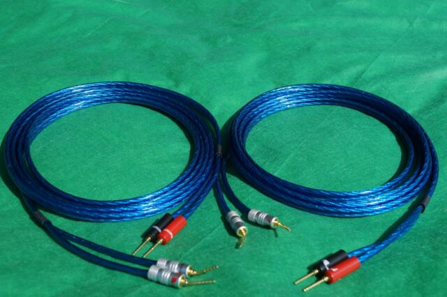 Samurai  14 Guage REAN Gold RCA to Banana Plugs Wire Speaker Pair Cable 30 Ft.