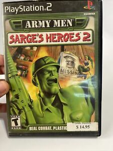 Army Men: Sarge's Heroes 2 - Playstation 2 PS2 Game - No Manual Tested
