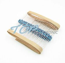 1000PCS 1KΩ 1K Ohm 1//4W 0.25W 1/% accuracy Metal Film Resistors RoHS R-MF