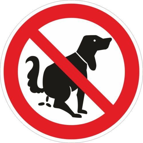 Verbotszeichen Hier kein Hundeklo Vorsicht Verbot 2x Aufkleber 100mm 10087