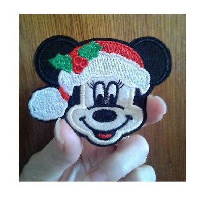 Reindeer Embroidered Iron On Applique Patch Christmas Minnie Mouse
