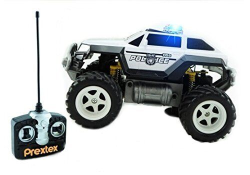 Remote Control Monster Police Truck Toys Rc Jeep Car W Lights 30ft