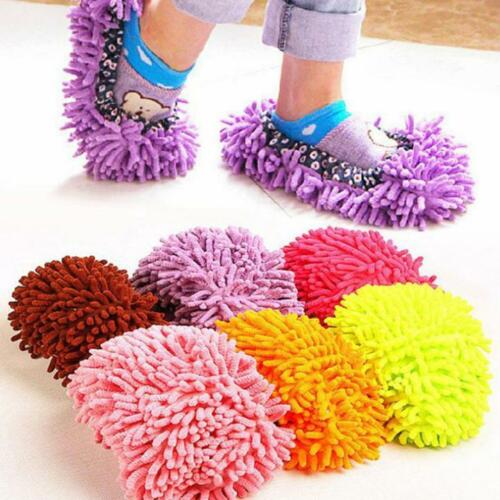 1pc Mop Slippers Lazy Floor Foot Socks Shoes Home Clean Shoe Cover Cleaning