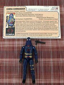 Gi Joe Cobra Commander ( Hooded ) Enemy Leader 1984 ( Mail-Away) Complete .