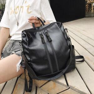 190b922df6 Image is loading Womens-Genuine-Leather-Backpack-Girls-Travel-Shoulder-Bag-