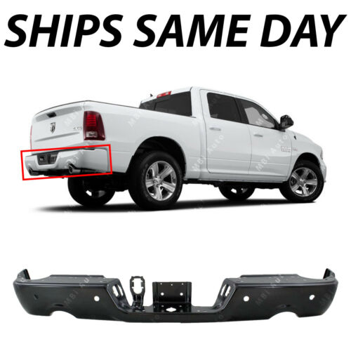NEW Primered Rear Bumper Face Bar for 2009-2018 RAM 1500 Pickup W// Park /& Dual