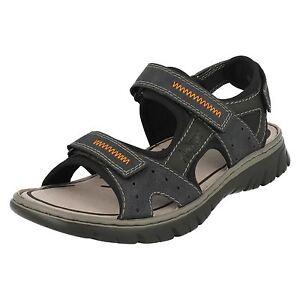 Mens Rieker 26757 Blue Combination Casual Strap Sandals