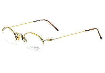 [EyezoneCo] LANVIN France Vintage Round Half-rim Gold Metal Eyeglasses 776-04