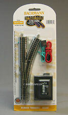 BACHMANN N SCALE E-Z TRACK REMOTE RH SWITCH bac train right hand out BAC 44862