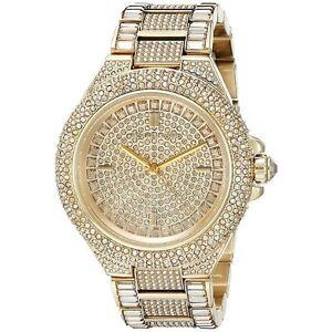 125bf250ba45 NEW Michael Kors MK5720 Camille Gold Tone Pave Glitz Ladies Watch ...