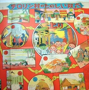 Sugoroku-Tabla-Juego-Enjoy-y-Tener-Diversion-en-Chirolin-Aldea-Animal-Land